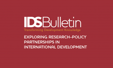 Read our paper in the latest IDS Bulletin